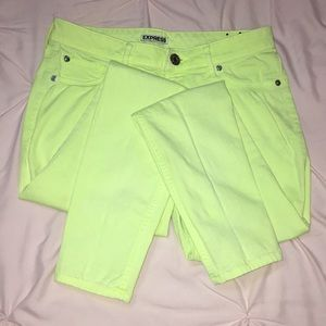 Neon Express skinny jeans